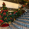 Late in the cruise the ship was decorated for Christmas