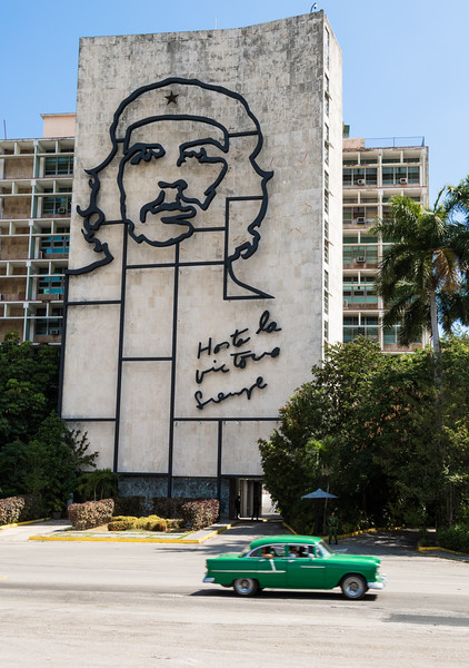 Steel memorial to Che Guevara, Revolution Square, Havana