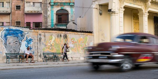 Along El Prado, Havana