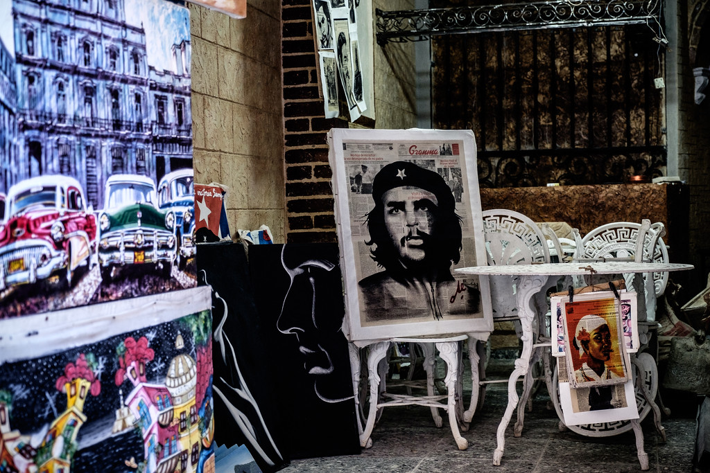 Art on the streets of Havana, Cuba.