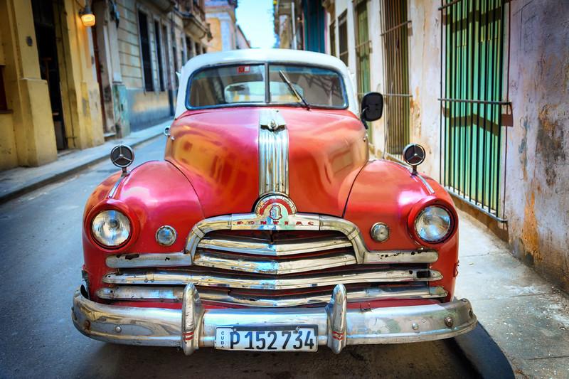 HAVANA, CUBA - March 28, 2016.  Vintage car in Old Havana, Cuba.
