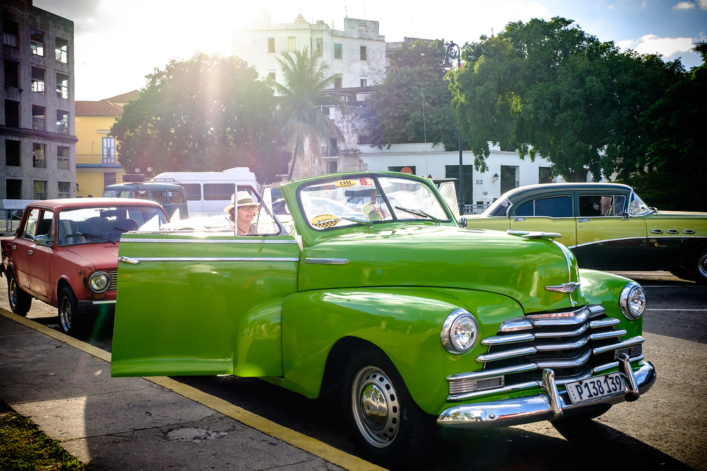Classic car on the streets of Old Havana. Cuba.