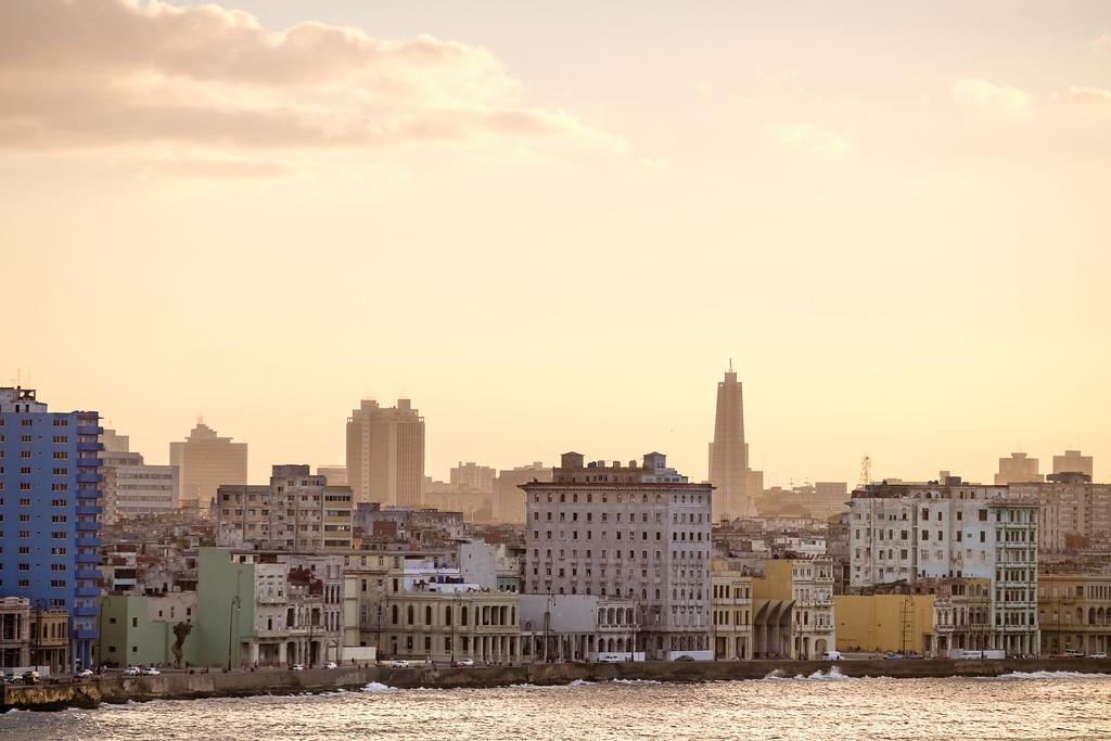 Havana skyline at sunset. Havana, Cuba.