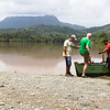 Getting on board. River Tao and El Yunque. Close to Baracoa