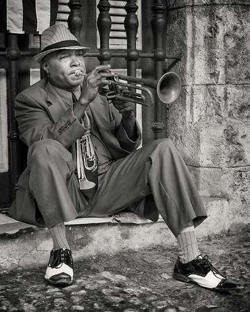 Street musician, Havana