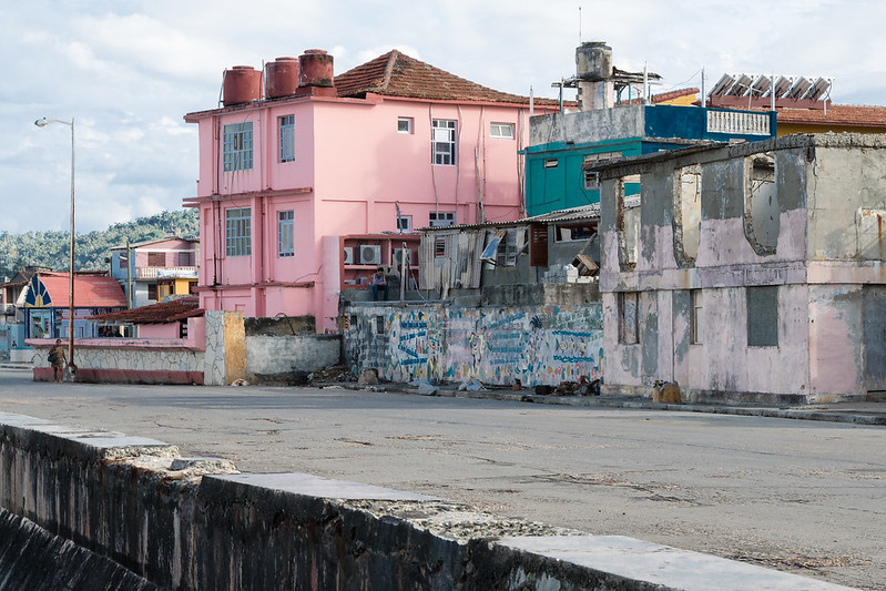 Old houses by the Malecon, Baracoa