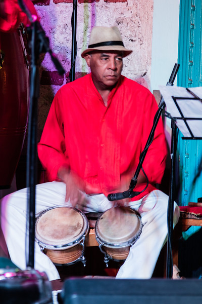 Drummer at the Buena Vista Social Club, Havana