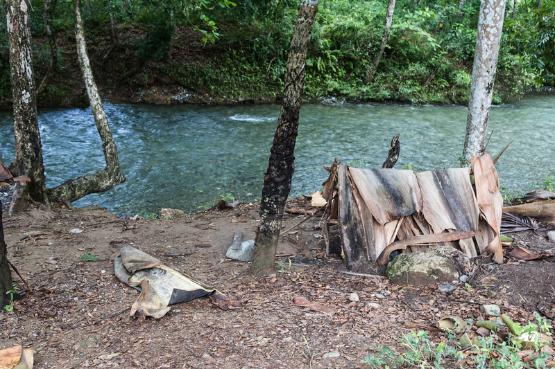 Tent next to the Duaba River close to Baracoa