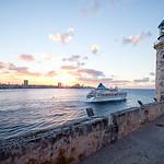 Cruise ship departing Havana. Cuba.