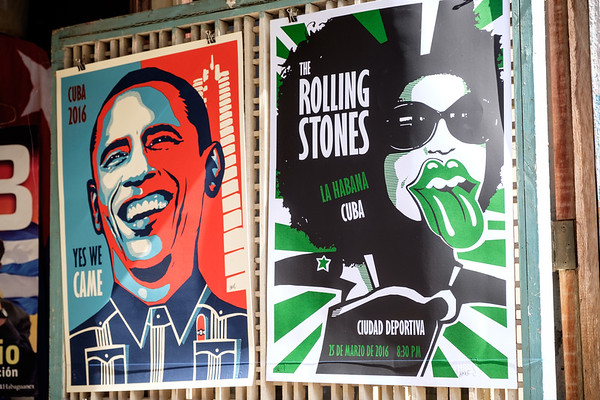 President Obama and The Rolling Stones in Havana, Cuba.