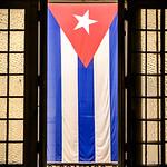 Cuban Flag, Museum of the Revolution. Havana, Cuba