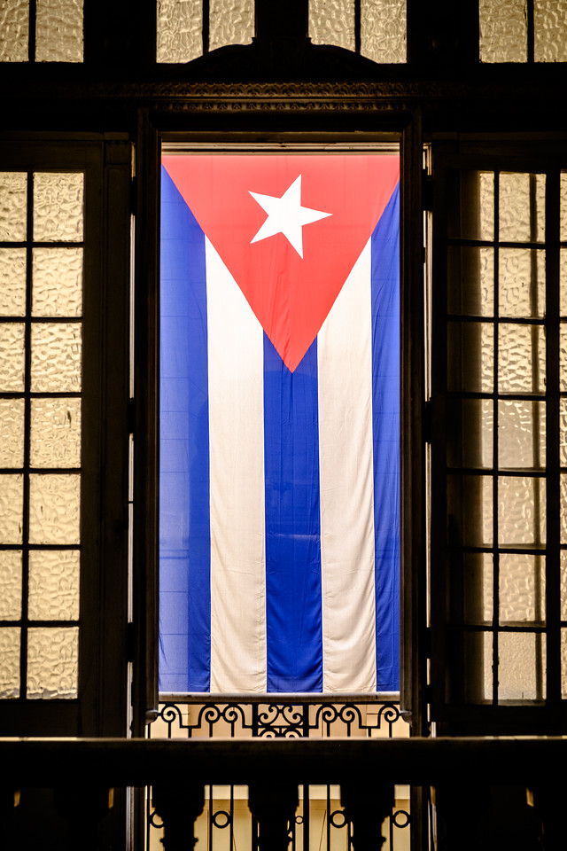 Cuban Flag, Museum of the Revolution. Havana, Cuba