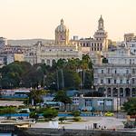 La Habana Vieja at sunset. Havana, Cuba.