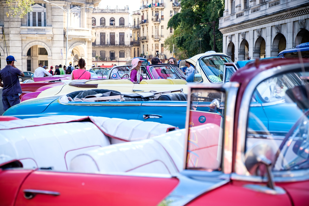 Classic cars on the streets of Havana. Cuba.