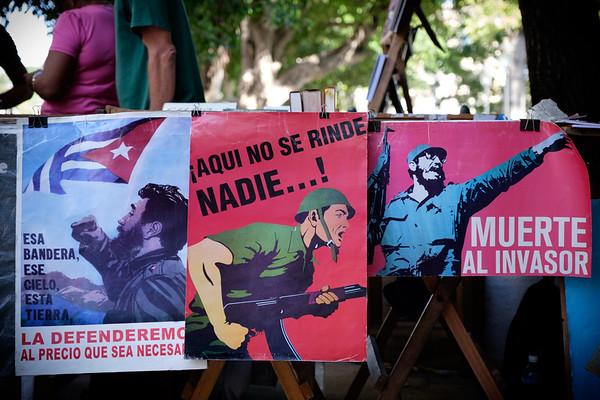 Signs of the revolution. Havana, Cuba.