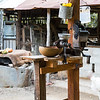 Cocoa bean grinder at a farm near Baracoa