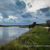 Cuckmere River at Seven sisters Park before a storm