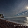 Seven Sisters under the full moon at Cuckmere Haven,