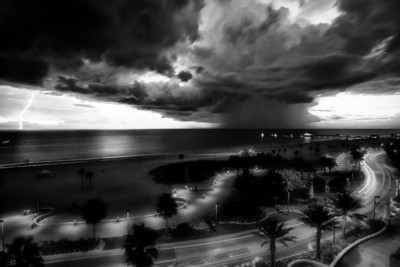 Evening storm on Clearwater beach, Pinellas County, Florida