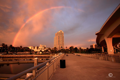 D.T. Clearwater rainbow, Clearwater Florida.