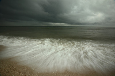 Storm clouds on the beach, Honeymoon Island State Park, Pinellas County Florida