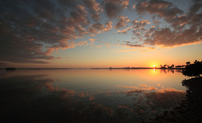 Sunrise on Dunedin Causeway, Pinellas County Florida.