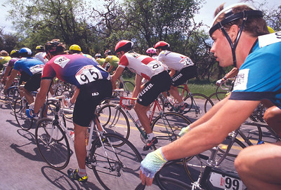 In the pack. Tour of Texas, 1990
