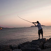 Fisherman on the sea of Marmara (Turkey)