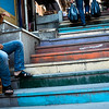 Colored stairs, Istanbul (Turkey)