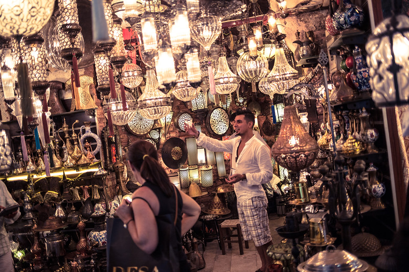 Grand Bazaar's lights, Istanbul (Turkey)