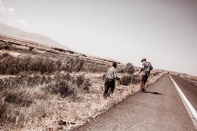 Farmers playing on the emergency lane, Turkey