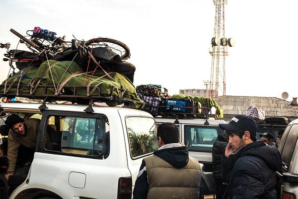 Getting ready for Khorog, Tajikistan
