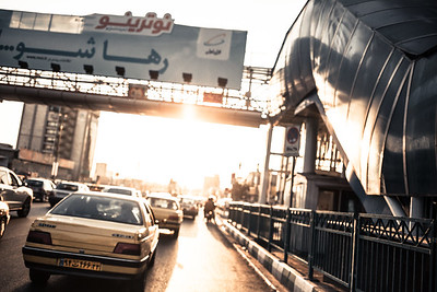 Traffic jam in Tehran (Iran)