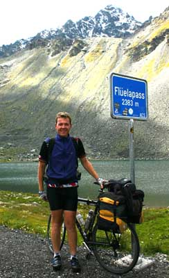 Frenchman Stefan Hennion cycled from France to Denmark, for the 10th International Vegan Festival, in 2006: a distance of well over 1000 km in about 1.5 weeks. It wasn't hard enough, so he cycled back again - via Switzerland!
