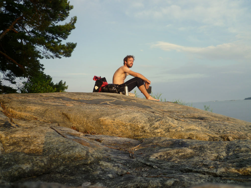 """However Lukas also saw many wonderful places and met interesting, friendly people. To meet the ship from Turku, Finland, to Stockholm, Sweden - which left at 8 AM - he had to cycle an entire night. Stated Lukas, """"This was one of the greatest experiences of my entire life!! I saw elk and a lot of other animals while I cycled a completely empty road, accompanied by a never ending sunset."""""""
