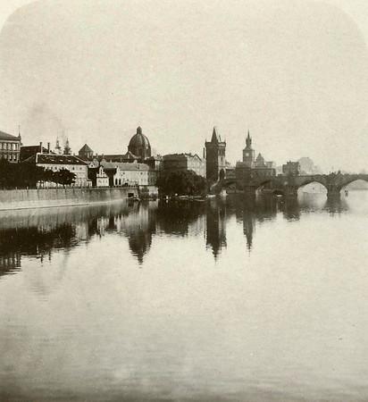 1900, Moldau Scene with Charles Bridge