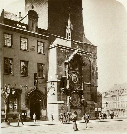 1900, Böhmische Rathausuhr, Bohemian Clock