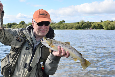 Brown trout caugh on fly from Mill Lough County Fermanagh (Stocked DCAL)