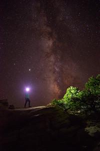 Admiring the Milky Way galaxy in the dark night skies of Capitol Reef National Park in Utah.