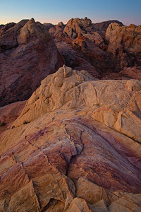 Colorful geology in the Valley of Fire in Nevada.
