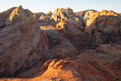 Rugged geology in the Valley of Fire in Nevada.