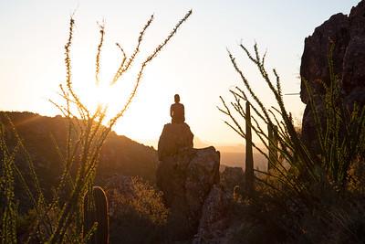 Enjoying sunset in the Pusch Ridge Wilderness in Arizona.
