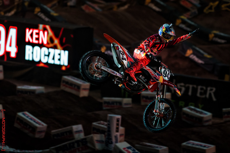 Ken Roczen greets the anxious Houston crowd