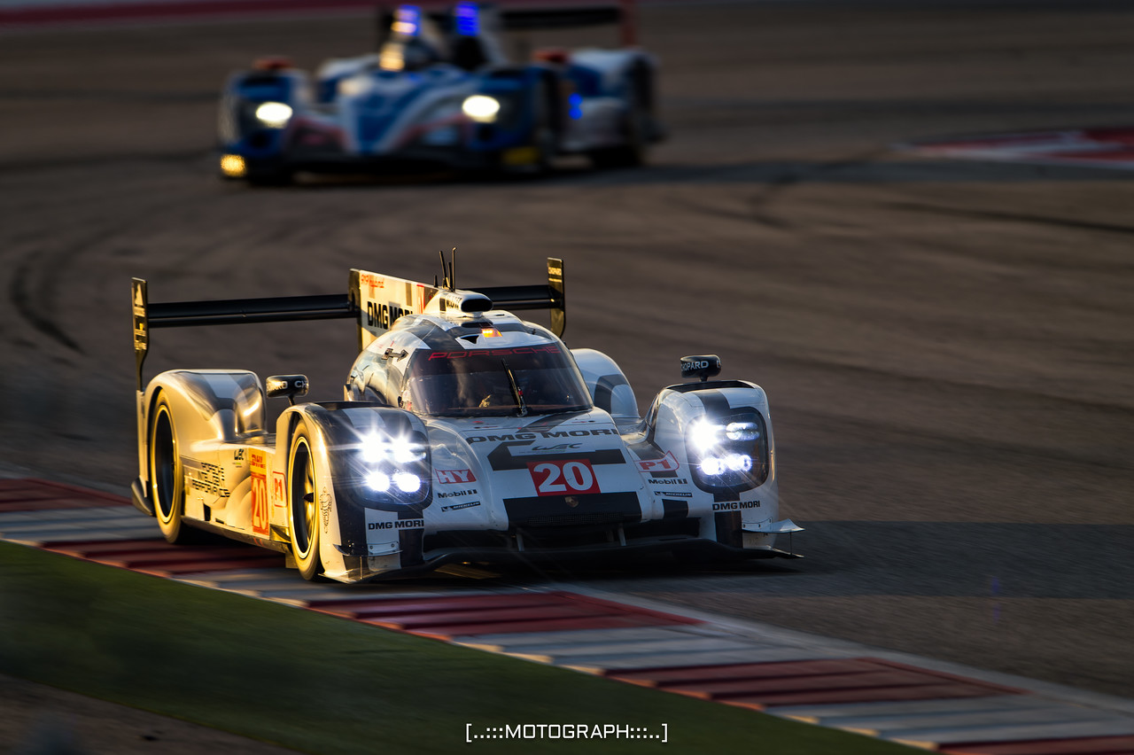 The Porsche 919 Hybrid piloted by Timo Bernhard, Mark Webber, and Brendon Hartley