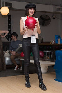 Meredith Alloway prepares to bowl at the SAG Indie Party during the 2017 Dallas International Film Festival at the Bowlounge in Dallas, Texas on April 5,2017. (Photo by Sam Hodde for the Dallas International Film Festival)
