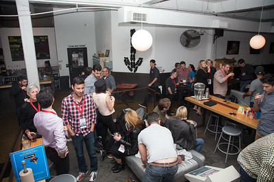 Attendees talk at the SAG Indie Party during the 2017 Dallas International Film Festival at the Bowlounge in Dallas, Texas on April 5,2017. (Photo by Sam Hodde for the Dallas International Film Festival)