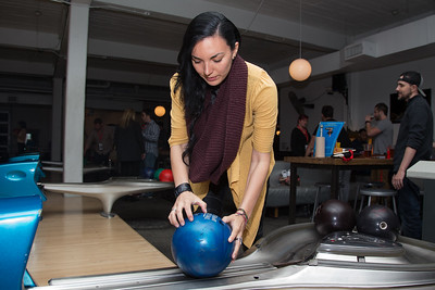 Ericka Estrella prepares to bowl at the SAG Indie Party during the 2017 Dallas International Film Festival at the Bowlounge in Dallas, Texas on April 5,2017. (Photo by Sam Hodde for the Dallas International Film Festival)