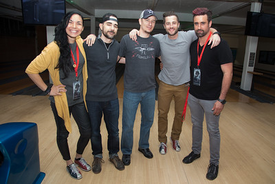 Ericka Estrella, Sheldon Chick, Cody Chick, Jameson Brooks, and Major Dodge pose for a photo at the SAG Indie Party during the 2017 Dallas International Film Festival at the Bowlounge in Dallas, Texas on April 5,2017. (Photo by Sam Hodde for the Dallas International Film Festival)