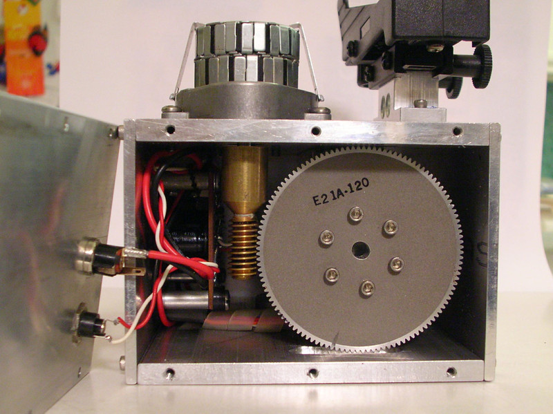 Internal view showing the worm drive