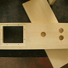 Detail of the CNC routing, including the button holes